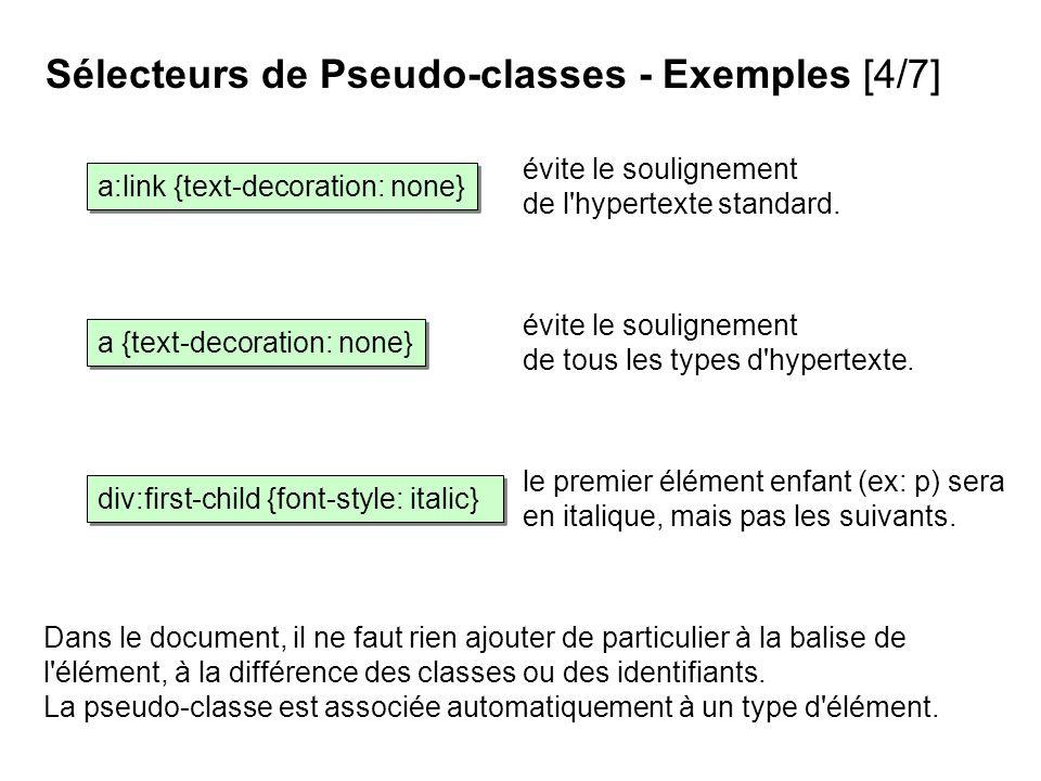 Sélecteurs de Pseudo-classes - Exemples [4/7]
